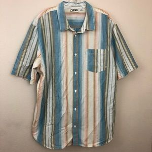 Men's Vans Short Sleeve Button Up